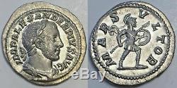 Severus Alexander, MARS VLTOR Denarius, Extremely Fine