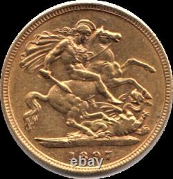 Superb 1897 Extremely Fine Victoria Diamond Jubilee Facing Left Half Sovereign