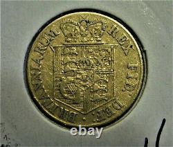 Superb Rare Extremely Fine 1818 Half Gold Sovereign King George III Die Axis