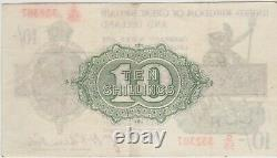 T30 Warren Fisher S58 Ten Shilling Treasury Note Near Extremely Fine Condition
