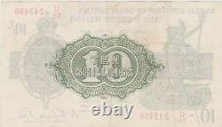 T33 Warren Fisher U55 Ten Shilling Banknote In Extremely Fine Condition