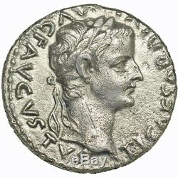 TIBERIUS. AR denarius. 14 37 A. D. Nearly Extremely Fine. 9080
