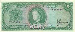 TRINIDAD & TOBAGO $5 1964 P-27c PREFIX Z CHOICE FRESH EXTREMELY FINE