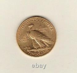 USA 1908 Indian Head Gold 10 Dollars Coin In Good Extremely Fine Condition