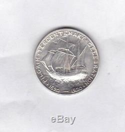 USA 1920 Pilgrim Commemorative Silver Half Dollar Km147.1 In Extremely Fine