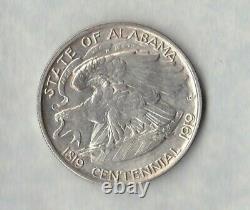 USA 1921 Silver Alabama Centennial Half Dollar In Extremely Fine To Near Mint