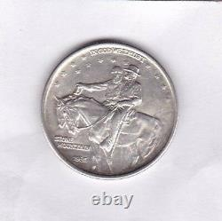 USA 1925 Silver Stone Mountain Memorial Half Dollar In Extremely Fine Condition