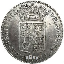 William & Mary. Halfcrown. 1689. Nearly Extremely Fine. 9106